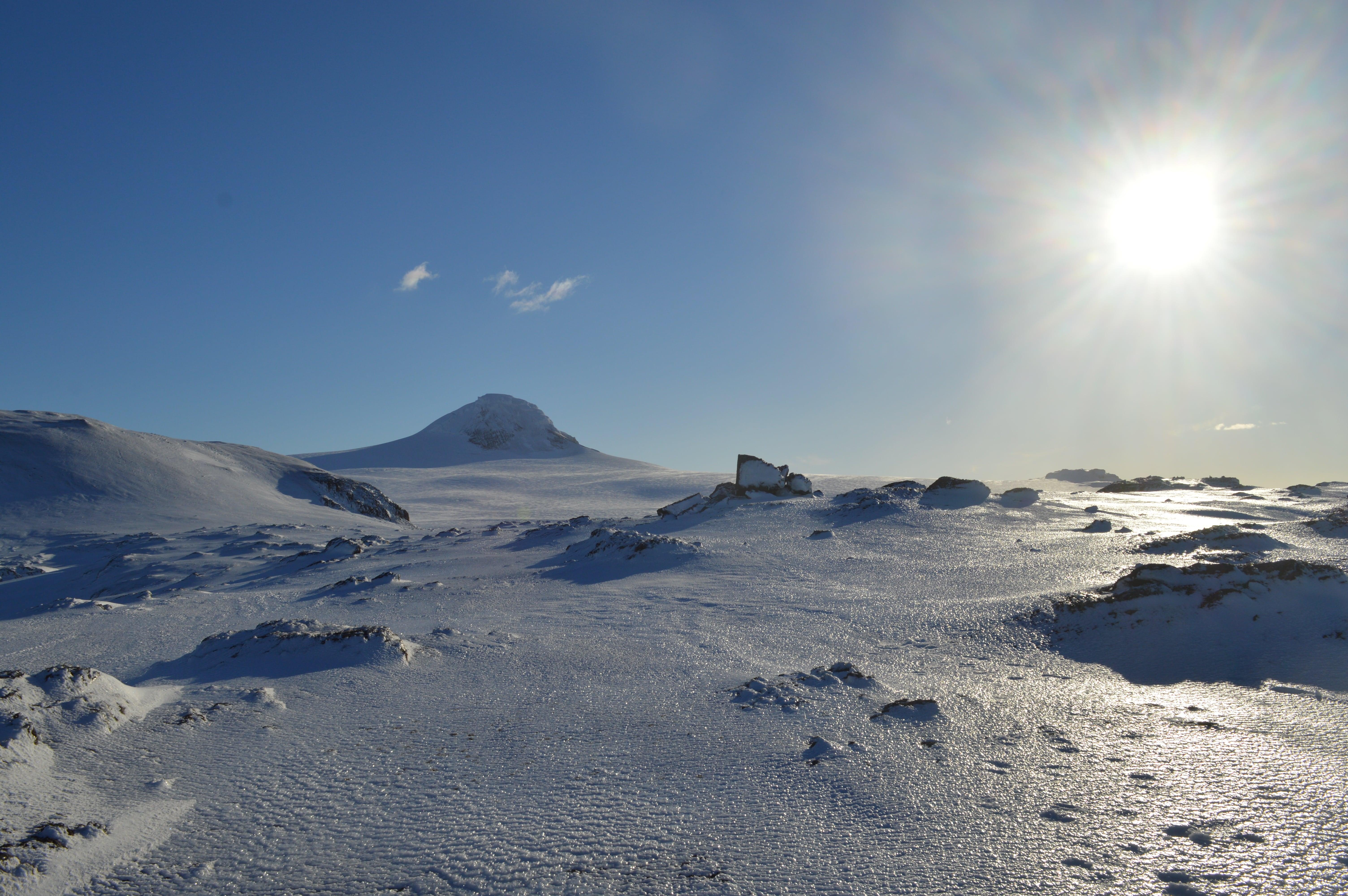 paisaje antártico con glaciares
